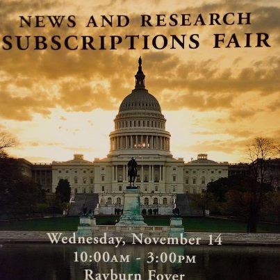 Photo: Join us at the House Subscriptions Fair now until 3:00. Learn about Congress.gov, THOMAS.gov, Law.gov, the Congressional Record app, and the many ways we serve Congress.
