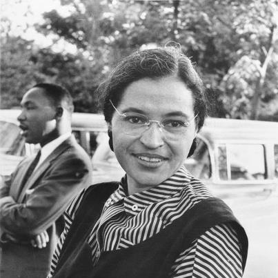 Photo: Happy December!  On December 1, 1955, in Montgomery, Alabama, Rosa M. Parks refused give up her seat on the bus to a white passenger, leading to the Montgomery Bus Boycott. Although she was not the first to resist bus segregation, Parks's organization, the NAACP, believed that she would do particularly well in court.  As a result of the bus boycott, Parks, Montgomery, and a young minister named Martin Luther King, Jr., all became prominent symbols of civil rights.  The American Folklife Center is engaged in an important effort to document and preserve stories of the American Civil Rights Movement.  Find out more at the link:  http://www.loc.gov/folklife/civilrights/  The photo showing Parks and King is from our colleagues at the National Archive; it is a work of the United States Government and therefore in the Public Domain.
