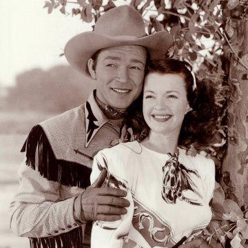 """Photo: http://lcweb4.loc.gov/natlib/ihas/service/afc9999005/AFS_5374_A1-6314/0582r.jpg  Happy Birthday to Roy Rogers (1911-1998).  Rogers was an actor and singer who was also one of the most heavily marketed stars of his era, starring in over 100 movies and giving his name to a popular restaurant chain.  Although he was not a working cowboy, many real cowboys loved his songs and his films. He also sang some real cowboy songs, including """"The Night Herding Song,"""" which he performed with his wife, Dale Evans.   """"The Night Herding Song"""" was collected by John Lomax from Harry Stephens, a one-time student of his at Texas A&M University, who was also a working cowboy.  Years after publishing Stephens's version in print, Lomax reunited with his friend Stephens and made a sound recording of the song for the Library of Congress, which you can hear at the AFC archive.  At the link below, hear Roy Rogers and Dale Evans sing """"The Night Herding Song.""""  At the link above, see the AFC catalog card for the song.  http://www.myspace.com/music/player?sid=38793322&ac=now"""