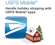 USPS Mobile®. Handle shipping with USPS Mobile apps. Learn More. Image of profile of eagle's head (USPS logo) next to a home.