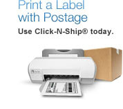 Print a Label with Postage. Use Click-N-Ship® today