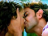 The picture that sparked a thousand words: Aishwarya Rai found herself causing controversy with her first screen kiss with Hrithik Roshan in movie Dhoom 2 in 2006
