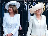 March of the matriarchs: Carole and Camilla are pictured at William and Kate's wedding