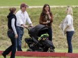 Decisions, decisions: Kate pictured with a friend's pram in June