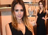 She's no bag lady! Jessica Alba shows off her glamorous side in long black dress as she attends luxury accessory label bash