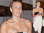 It's not a toga party! Chelsea Handler puts too much skin on show in a revealing Grecian style dress at Art Basel event