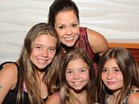 Heartbreaking: Brooke Burke-Charvet has recalled the moment her daughter Neriah, far left, cried when she told her she had thyroid cancer