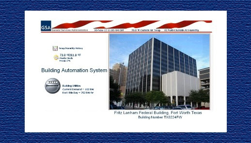 screenshot of GSA's Web Based Building Automation System