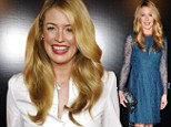 Flawless... whatever the time of day! Cat Deeley glows at breakfast event before turning up the glamour for fashionable night out