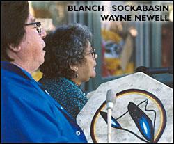 Wayne Newell and Blanche Sockabasin