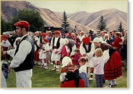 Basque performers at an Idaho Festival