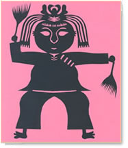 Chinese papercut of a girl dancing