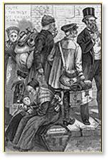 Woodcut of Mennonite Family, circa 1874