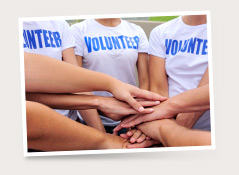 Find volunteer opportunities or create your own and recruit others