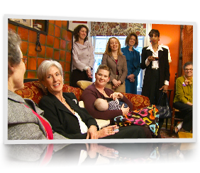 HHS Secretary Kathleen Sebelius speaks to women at a Living Room Discussion in Baltimore, MD.