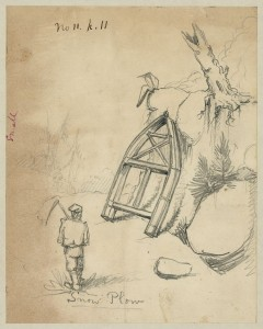 Snow plow, [between 1856 and 1857]