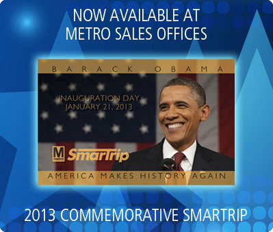 Obama SmarTrip on sale at Metro Sales Offices