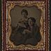 [Two unidentified women reading letters] (LOC)