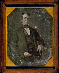 [Abraham Lincoln, Congressman-elect from Illinois. Three-quarter length portrait, seated, facing front] (LOC)