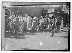 Tripoli - Captured Arabs at Fountain of Bu Meliana (LOC)