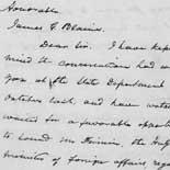 Frederick Douglass to James G. Blaine concerning a U.S. naval base at Mole St. Nicholas, Haiti, 6 January 1891. Autograph letter.