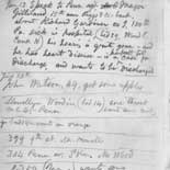1862 Notebook: Whitman notes Civil War woundeds' wishes (notebook #94, p.2)