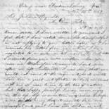 Letter from John S. Smith to Juliana Smith Reynolds, November 25, 1862