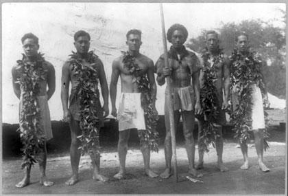 Duke Kahanamoku and his troupe