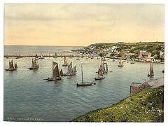 [Trawlers leaving harbor, Brixham, England]  (LOC)