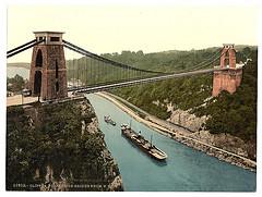 [Clifton suspension bridge from the north east cliffs, Bristol, England]  (LOC)