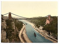 [Clifton suspension bridge from the north cliffs, Bristol, England]  (LOC)