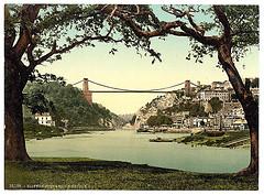 [Clifton suspension bridge from the ferry, Bristol, England]  (LOC)