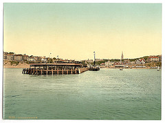 [From the sea, Bournemouth, England]  (LOC)