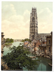 [St. Botolph's Church and river, Boston, England]  (LOC)