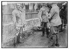 Wounded Austrian Officer on Patrol on Isonzo  (LOC)