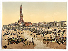 [The Promenade and Tower from South Pier, Blackpool, England]  (LOC)
