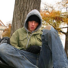 Homeless, But Not Twitter-less