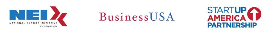 Partner Logos: NEI, BusinessUSA, Startup America