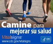 Afiche de Vital Signs: camine pare mejorar su salud