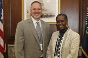 Acting Public Printer Davita Vance-Cooks welcomes Charles A. Barth as the Director of the National Archives' Office of the Federal Register.