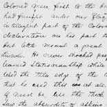 Frederick Douglass's opinion of Abraham Lincoln, 1865. Autograph manuscript.