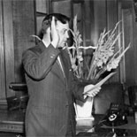 Luther Harris Evans takes the oath of office and becomes the tenth Librarian of Congress, June 18, 1945.