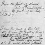 First trial lines of 'Leaves of Grass' circa 1854 (notebook #80, p.68)