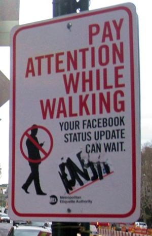 Pay Attention While Walking!, by Superk8nyc, on Flickr