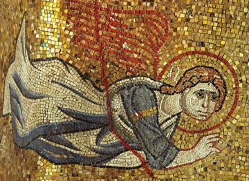 Mosaic detail of angel from the Basilica di San Marco, Venice, Catalog/Accession No.: 47043b9367f94b4cbcdd299b2b3e7d03