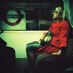 Red Woman In Tube
