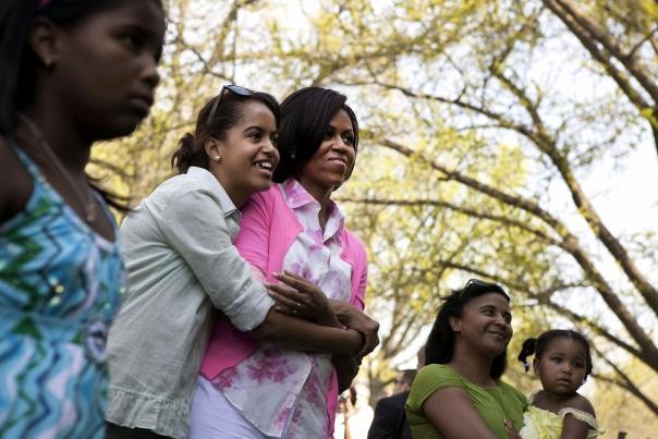 First Lady and Malia