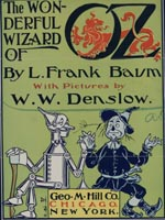 Application for copyright for the Wonderful Wizard of Oz.