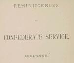 Reminiscences of Confederate service.