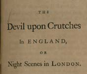 The Devil Upon crutches in England